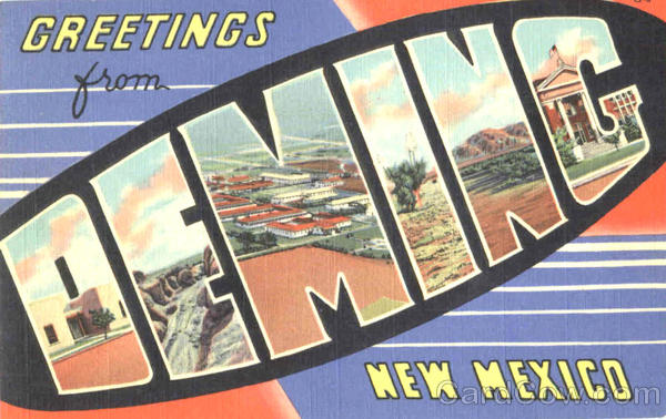Greetings From Deming New Mexico Large Letter