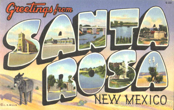 Greetings From Santa Rosa New Mexico Large Letter