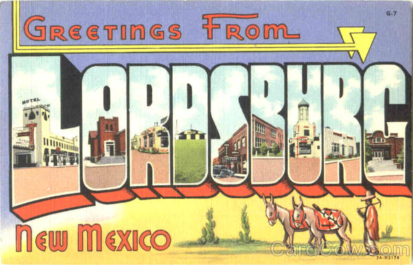 Greetings From Lordsburg New Mexico Large Letter