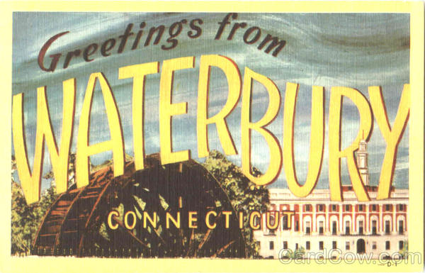 Greetings From Waterbury Connecticut Large Letter