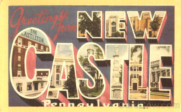 Greetings From New Castle Pennsylvania Large Letter