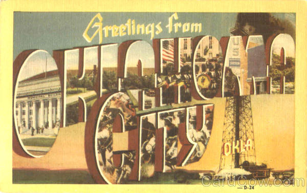 Greetings From Oklahoma City Large Letter