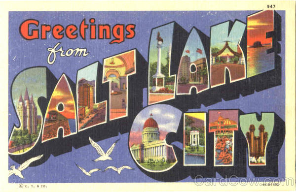 Greetings From Salt Lake City Utah Large Letter