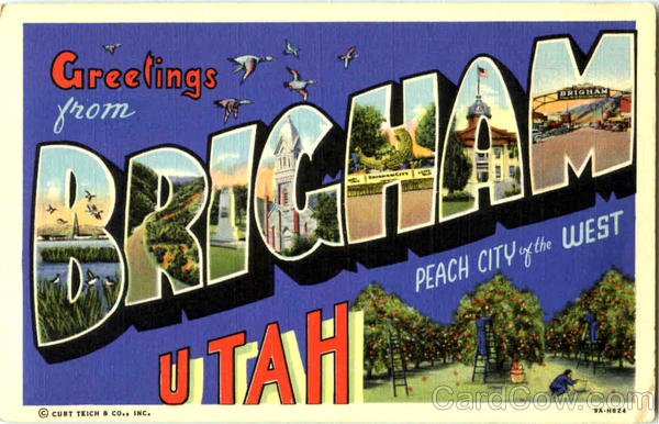 Greetings From Brigham Utah Large Letter