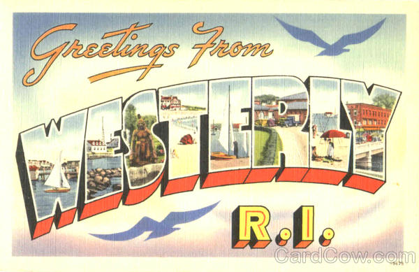Greetings From Westerly Rhode Island Large Letter