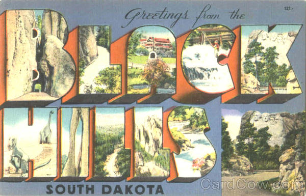 Greetings From The Black Hills South Dakota Large Letter