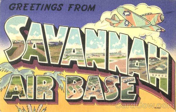 Greetings From Savannah Air Base Georgia Large Letter