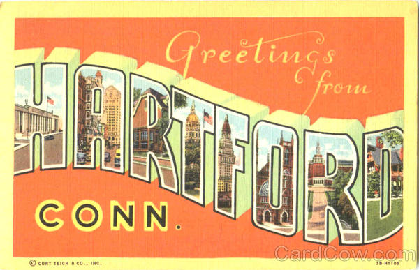 Greetings From Hartford Connecticut Large Letter