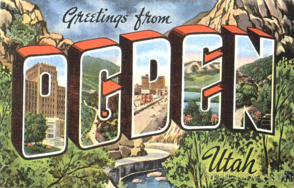 Greetings From Ogden Utah Large Letter