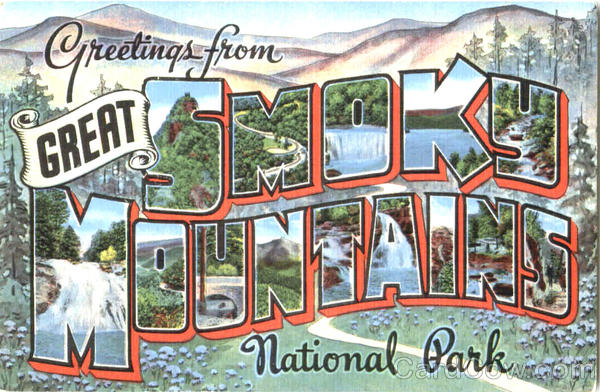Greetings From Great Smoky Mountains Tennessee Large Letter