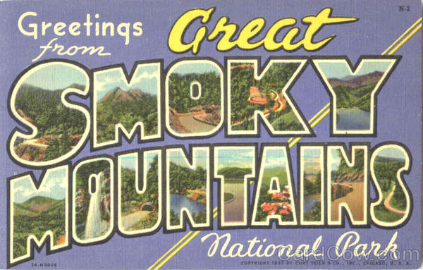 Greetings From Great Smoky Mountains North Carolina