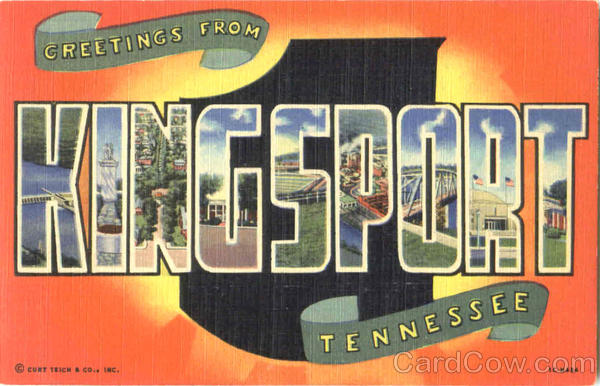 Greetings From Kingsport Tennessee Large Letter