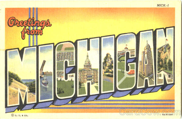 Greetings From Michigan Large Letter