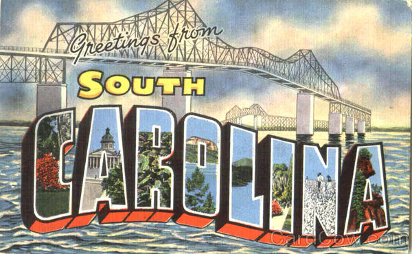 Greetings From South Carolina Large Letter
