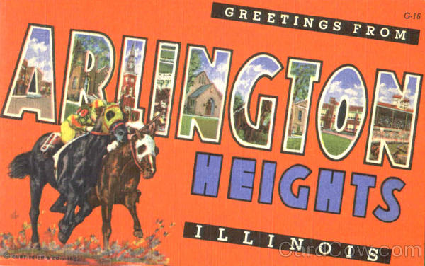 Greetings From Arlington Heights Illinois Large Letter