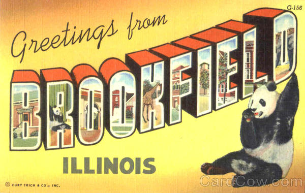 Greetings From Brookfield Illinois Large Letter