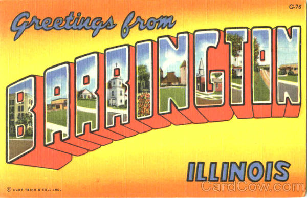 Greetings From Barrington Illinois Large Letter