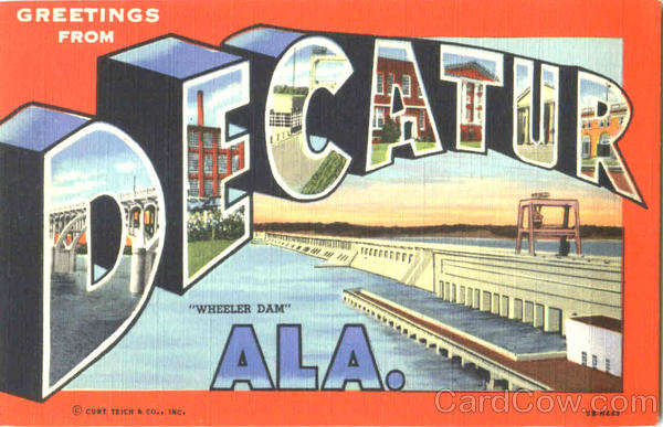 Greetings From Decatur Alabama Large Letter