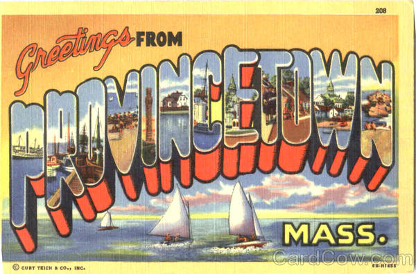 Greetings From Provincetown Massachusetts Large Letter