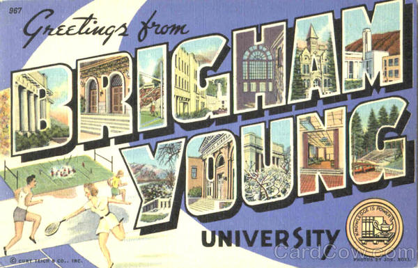 Greetings From Brigham Young University Utah Large Letter