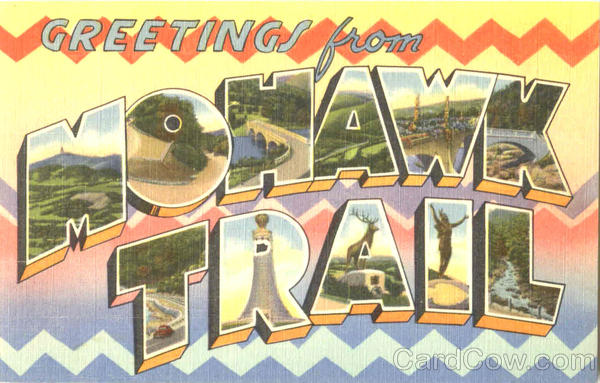 Greetings From Mohawk Trail New York Large Letter