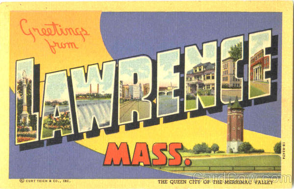 Greetings From Lawrence Massachusetts Large Letter