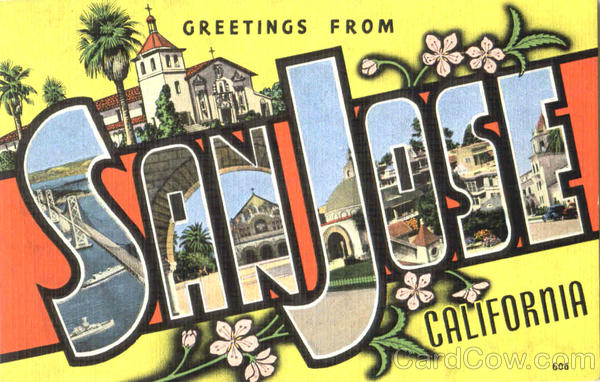 Greetings From Sanjose California Large Letter