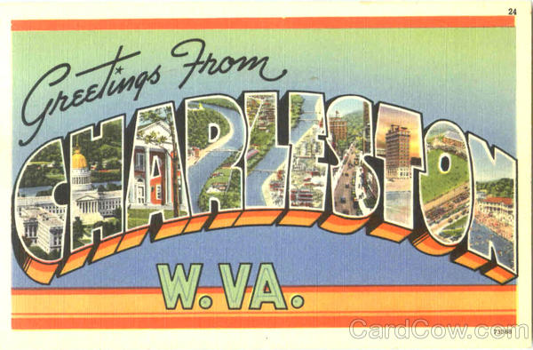 Greetings From Charleston West Virginia Large Letter