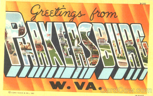 Greetings From Parkersburg West Virginia Large Letter