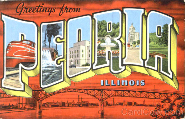 Greetings From Peoria Illinois Large Letter