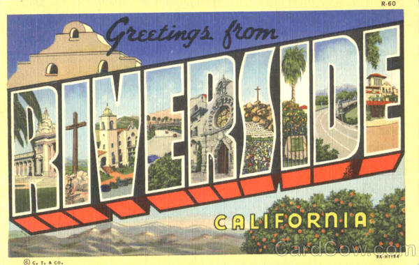 Greetings From Riverside California Large Letter