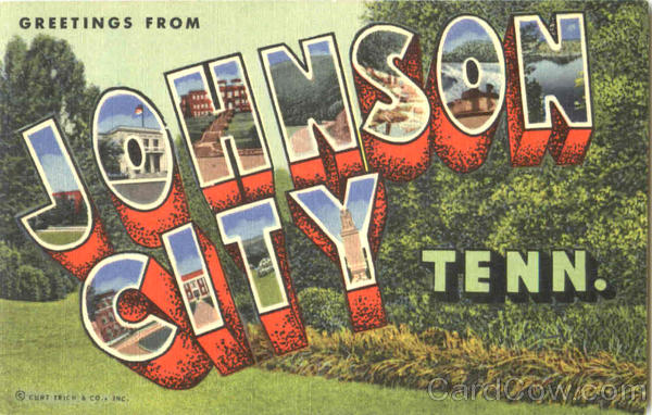 Greetings From Johnson City Tennessee Large Letter