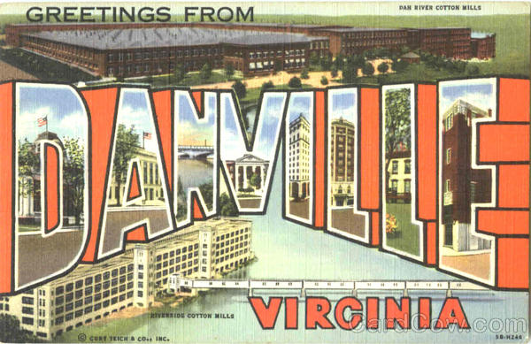 Greetings From Danville Virginia Large Letter