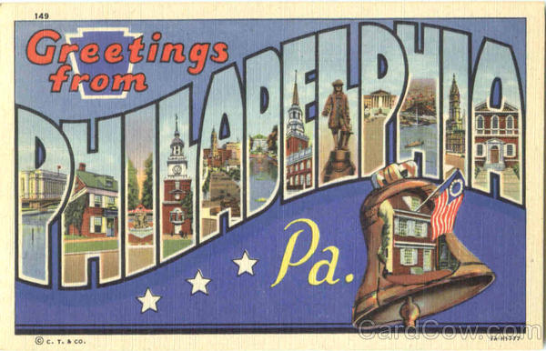 Greetings From Philadelphia Pennsylvania Large Letter