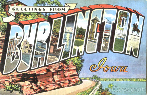 Greetings From Burlington Iowa Large Letter