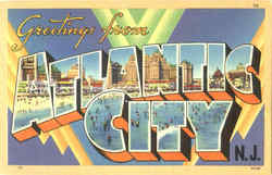 Greetings From Atlantic City Postcard