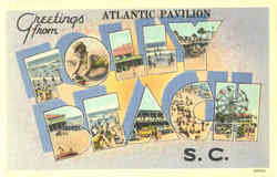 Greetings From Atlantic Pavilion Postcard