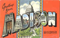 Greetings From Madison Postcard