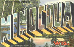 Greetings From Minocqua Postcard