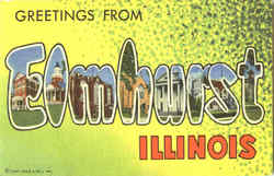 Greetings From Elmhurst Postcard