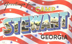 Greetings From Camp Stewart Postcard