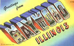 Greetings From Maywood Postcard