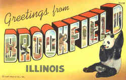 Greetings From Brookfield Postcard