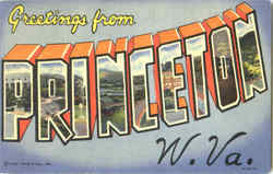 Greetings From Princeton Postcard