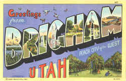 Greetings From Brigham Postcard