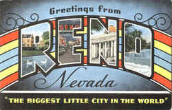 Greetings From Reno Postcard