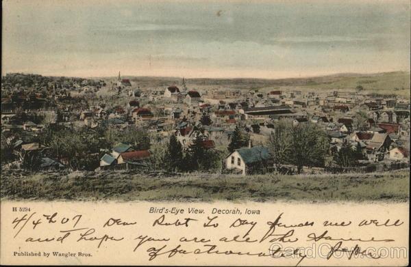 Bird's-Eye View of City Decorah Iowa
