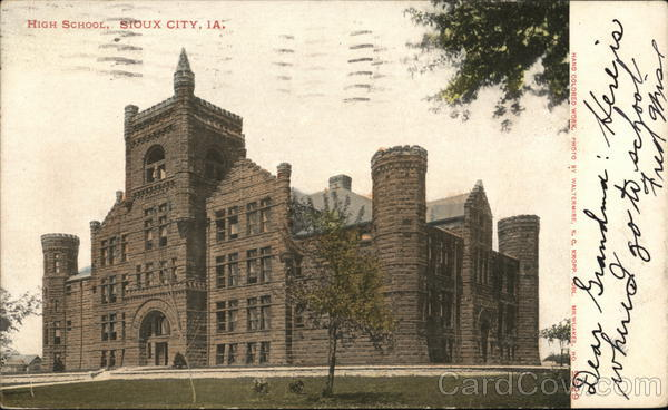 High School Building Sioux City Iowa Waltermire