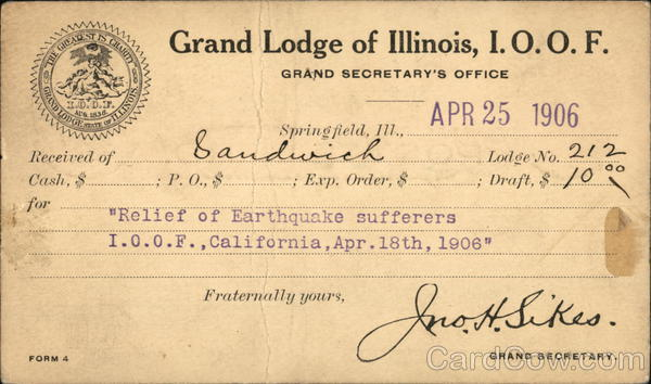 Grand Lodge of Illinois, IOOF Springfield Fraternal
