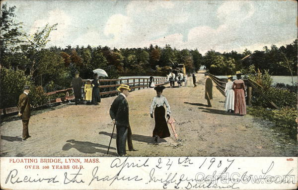 Floating Bridge, Over 100 Years Old Lynn Massachusetts